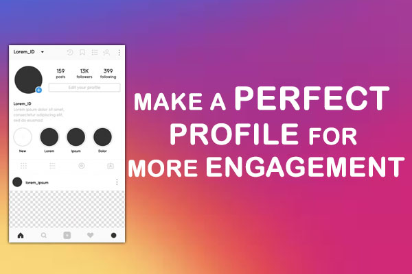 Make a Perfect profile for more Engagement